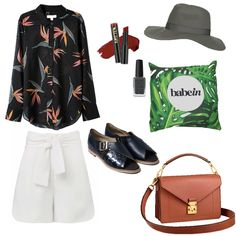 Shirt: Country Road Paradise Print; Shorts: Seed; Sandals: Kuwaii Marlene Flats; Lipstick: LA Girl Cosmetics Spicy Matte; Nail Polish: Kester Black Soot; Hat: Top Shop Grey Fedora; Babywearing Wrap: Babein Lush; Bag: Louis Vutton Biface Messenger Bag http://shop.babein.com.au/product/lush-wrap