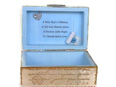 Keepsake Box for Baby Boy Baby Shower Gift by BlissfulBoxes, $40.00