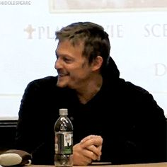 norman reedus: If you don't smile, there is something wrong with you!