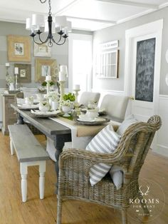 beautiful beach farmhouse look from Bre at Rooms for Rent - a favourite look