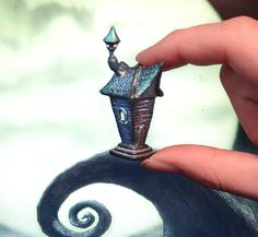 Tim Burton inspired house miniature polymer clay by UraniaArt, €20.00