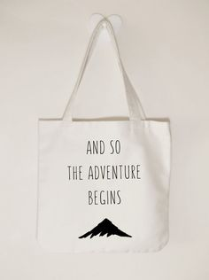 And so the adventure begins canvas tote bag by ToastStationery
