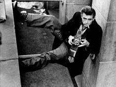 James Dean with a Rolleiflex.