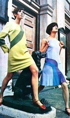 1960s op art fashions.