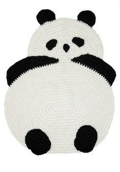 Panda rug!! I want to make this in all shapes and sizes! Maybe an owl... or a penguin!