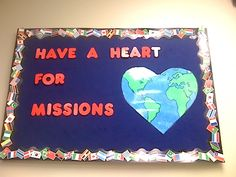bulletin board for mission's conference