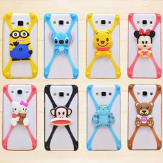 62382084e98 New Lovely 3D Cartoon Olaf Minnie Teddy Kitty Universal Rubber Soft  Silicone Phone Bumper Case For