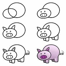Image result for easy drawing for kids step by step animals