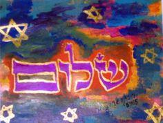 Shalom Peace Print by rivkasari on Etsy, $55.00    www.rivkasari.com