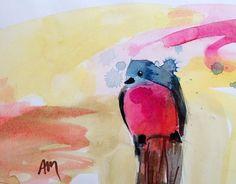 Bluebird no. 97 Original Watercolor Painting by Angela Moulton