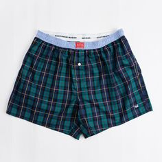 Southern Marsh Hanover Tartan Boxer in Blue and Green