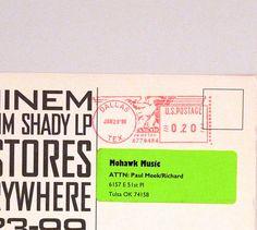Eminem Postcard 1998 Vintage The Slim Shady Release Band Card Hip Hop Hardcore Rap Detroit Michigan