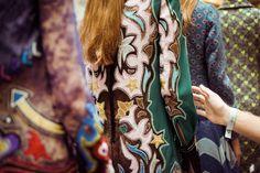 Mary Katrantzou Autumn Winter 2016 Fall Winter, Autumn, Mary Katrantzou, Backstage, Fashion Brands, Ready To Wear, Kimono Top, Feminine, Elegant