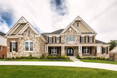 Beautiful home featuring our Waterford brick and San Moritz Fieldstone!
