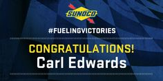 The checkered flag is in the air at @TooToughToTame!Congrats, Carl Edwards! #FuelingVictories