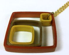 Mezclado Metal geométricas papel collar, collar geométrico, collar metal mezclado, cobre y oro, aniversario de papel, papel pluma collar