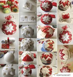 "No-Sew ""Quilted"" Christmas Ornament Quilted Fabric Ornaments, Quilted Christmas Ornaments, Christmas Sewing, Christmas Fabric, Handmade Christmas, Christmas Crafts, Ornament Crafts, Christmas Projects, Holiday Crafts"