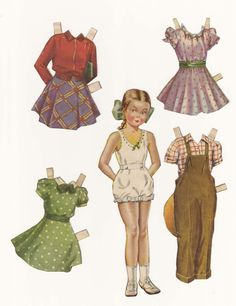 1940s McCalls magazine had them every month. Loved paperdolls more than any other thing we played with.