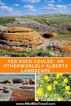 Red Rock Coulee - An Otherworldly Alberta Landscape. There are numerous places in Alberta and Saskatchewan, Canada that have unusual rock formations and the area is famous for its finds of fossils, dinosaurs, etc. Quebec, Montreal, Places To Travel, Places To See, Vancouver, Columbia, Toronto, Alberta Travel, Voyage Canada