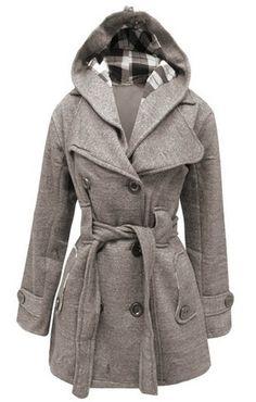 cool Mymixtrendz- Womens Warm Fleece Hooded Jacket with Belt Coat Top Plus Sizes Uk 8-20 - For Sale