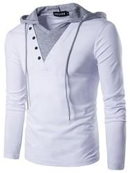 Men's Casual Long Sleeve Hoodie T Shirt Lightweight Hipster Hip Hop Hooded Shirt - HerrenMode Casual T Shirts, Casual Outfits, Men Casual, Casual Tops, Slim Fit Hoodie, Hoodie Sweatshirts, Top Hoodies, Long Sleeve Sweater, Shirt Style