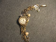 watch-silver 925 with pearls. Handcrafted Jewelry, Pocket Watch, Jewerly, Bracelet Watch, Places To Visit, Copper, Pearls, Awesome Things, My Favorite Things