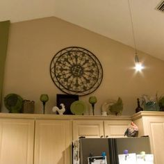 how to decorate on top of cabinets with vaulted ceiling - Google ...