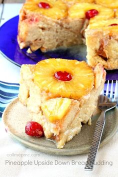 Pineapple Upside Down Bread Pudding!!