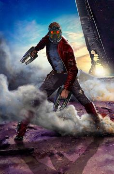 Peter Quill is the first and current Star-Lord, a human-alien hybrid and leader of the Guardians of the Galaxy. He is the son of J'son of Spartax who is King of the Spartoi Empire. Marvel Dc Comics, Films Marvel, Marvel Vs, Marvel Heroes, Star Lord, The Avengers, Comic Book Characters, Marvel Characters, Fictional Characters