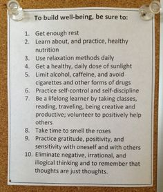 top 10 list of what helps you do your best, especially in organizing or other life quests.
