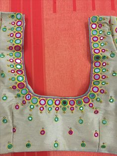 Simple Blouse Designs, Stylish Blouse Design, Sari Blouse Designs, Mirror Work Saree Blouse, Mirror Work Blouse Design, Kutch Work Designs, Beautiful Mehndi Design, Kurti Designs Party Wear, Fancy