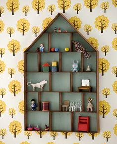 Shelves to Display Tiny Treasures (Make with Cardboard)