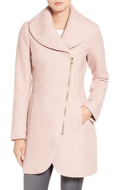 On SALE at 34% OFF! shawl collar coat by Jessica Simpson. A rounded shawl collar tops this figure-flattering woolen coat with an asymmetrical zip closure and streamlined on-se...