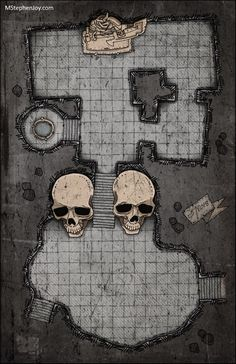 Alter Shrine dungeon Statue w bardiche Twin Skulls Well by MStephenJoy Dnd World Map, Fantasy World Map, Dungeons And Dragons Homebrew, D&d Dungeons And Dragons, Dungeons And Dragons Adventures, Dungeon Tiles, Dungeon Maps, Drawing Cartoon Characters, Cartoon Drawings