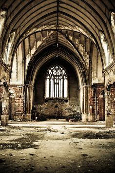 Abandoned church Boston Edison, Detroit,MI - Old looking things are beautiful to me. Especially buildings.