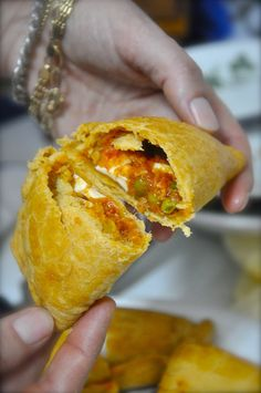 empanadas-I don't know what is in these besides peas-but I will take a whole plateful : )