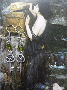 Romantic steampunk earrings