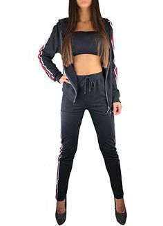 TV Fitnessanzug Trainingsanzug 3 Teilig Leggings Shirt Sportjacke Sportanzug*