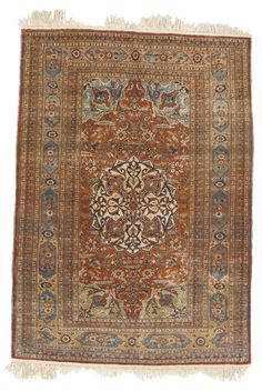 Tabriz silk rug, Northwest Persia approximately 6ft. by 4ft. 4in. (1.83 by 1.32m.) circa 1900