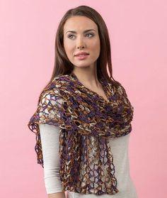 Enjoy Life Shawl Free Crochet Pattern in Red Heart Heart & Sole yarn