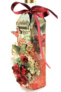 Wine bottle decoration Wine, Decoration, Bottle, Decorating, Flask, Dekorasyon, Deko, Dekoration, Decorations