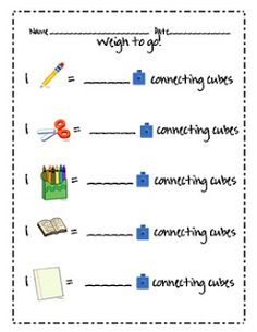 Mrs.+A-Colwell's+Class:+Measuring+and+Ordering+by+Weight+-+FREE+station+pr...