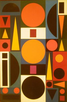 Auguste Herbin 1950 'Vie #1', Albright-Knox Art Gallery, Buffalo NY