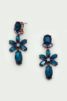 Crystal Fia Earrings in Sapphire