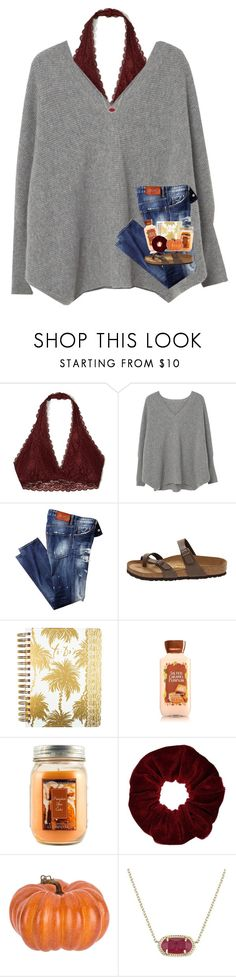 """pumpkin spice and everything nice :)"" by preppy-southerngirl ❤ liked on Polyvore featuring Hollister Co., MANGO, Birkenstock, Lilly Pulitzer, Holiday Memories, Miss Selfridge and Kendra Scott"
