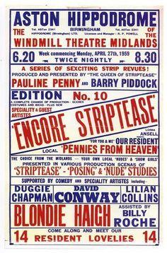 Vintage Theatre Poster - Aston Hippodrome - Birmingham - England - 1959
