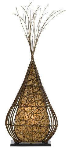 Rattan Casual Floor Lamp