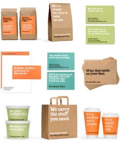 Organic food immagine coordinata packaging