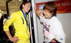 Hope Solo(USA) and Aya Miyama(Japan) : Football Players
