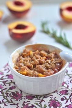 Peach Rosemary Crisp